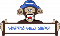 Clipart - Happy New Year Monkey