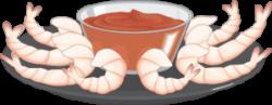 Shrimp Appetizer With Sauce Clip Art at Clker.com - vector clip art ...