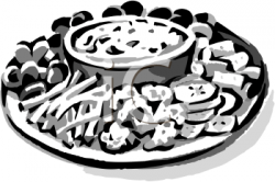 Clip Art Picture of a Platter of Raw Veggies - foodclipart.com
