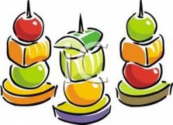 Appetizer Clip Art | Fruit on skewers clipart image ...
