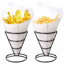 Amazon.com: 1 X 2 French Fry Stand Cone Basket Holder by Cobble ...