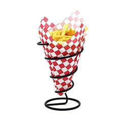 Amazon.com | Mannily 2PCS French Fry Stand Metal Spiral Cone Basket ...