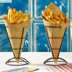 Sweettreats 2 Piece French Fry Stand Cone Basket Holder for Fries ...