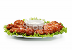 Chicken Wings Plate Stock Photos - FreeImages.com