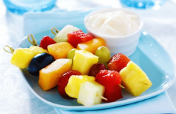 Fruit Kabobs with Coconut Yogurt Dip Recipe | SparkRecipes