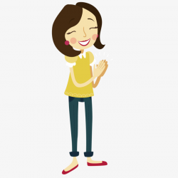 Clap The Lady, Clap Hands, Ms, Cartoon PNG and Vector for Free Download