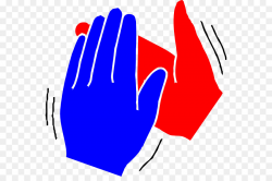 Clapping Hand Applause Clip art - Red Hands Cliparts png download ...