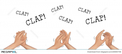 Hands Clapping Hand Applause Illustration Illustration 49355706 ...
