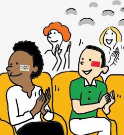 Applaud The Audience, Cartoon Audience, Applaud, Site Applause PNG ...