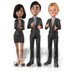 group business clapping
