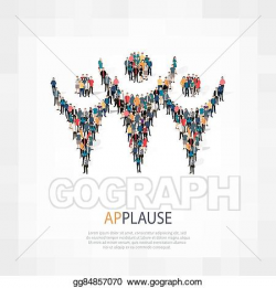 Vector Stock - Applause symbol people crowd. Clipart Illustration ...