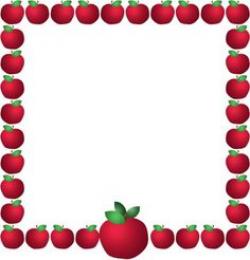 Apple border clip art | Clipart Panda - Free Clipart Images