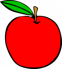 Simple Fruit Apple by Gerald_G - apple, clip art, clipart, food ...