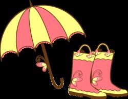 April Showers Clip Art Images: April Showers - Umbrella and Rain ...