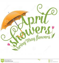 April Clip Art | April Showers Bring May Flowers Design Stock Vector ...