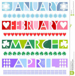 January Banner Clipart
