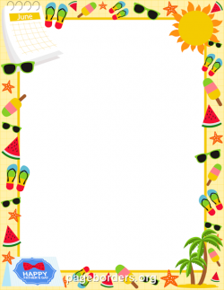 Printable June border. Use the border in Microsoft Word or other ...