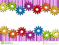 Clipart Flower Border - cilpart