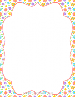 Printable spring flower border. Use the border in Microsoft Word or ...