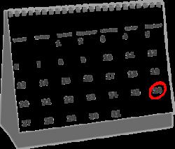 April 2013 Desk Calendar Clip Art at Clker.com - vector clip art ...