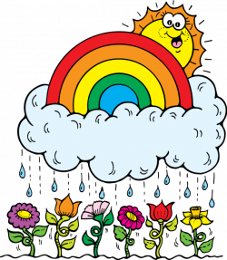 April Showers Clipart - May 2018 Calendar Printable PDF Page Word ...