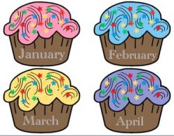 Cupcake Birthday Chart by Ms Kara   Teachers Pay Teachers
