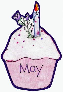 April Cupcake Clipart - Kind Of Letters