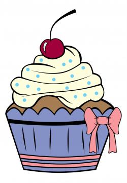 Cupcake Outline Clip Art   Cartoon Cupcake Outline Cake   Cupcakes ...