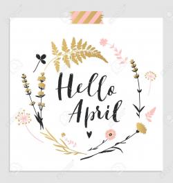 Hello April Clipart