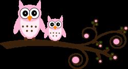 Pink Owl On Branch Clip Art at Clker.com - vector clip art online ...