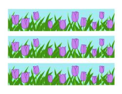 Purple Tulip Bulletin Board Border Printable Full Color PDF Spring ...
