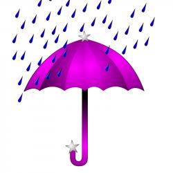 Umbrella Rain Showers Clipart