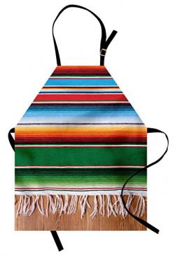 Amazon.com: Lunarable Mexican Apron, Boho Serape Blanket with ...