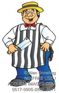 butcher with striped apron clipart & stock photography | Acclaim Images