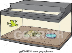 Vector Art - Frog in tank with open lid. Clipart Drawing gg80961231 ...