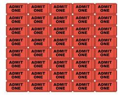 Classy Printable Admit One Tickets Best 25 Ticket Ideas On Pinterest ...