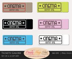 Movie Ticket Clipart - cilpart
