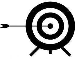 Archery target art | Etsy