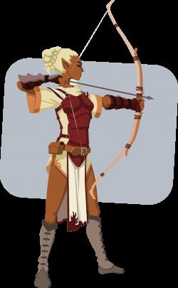 Clipart - elven archer