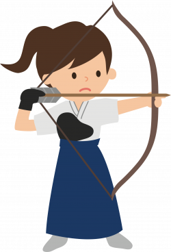 Clipart - Female Archer (#2)