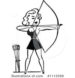 Archery Clipart #1112596 - Illustration by Prawny Vintage