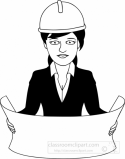 Occupations Clipart- black-white-architect-clipart - Classroom Clipart