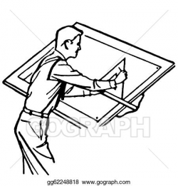 Clipart - A black and white version of a vintage illustration of an ...