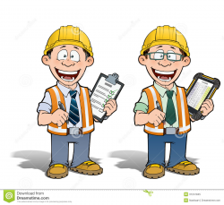 Architecture clipart construction manager - Pencil and in color ...