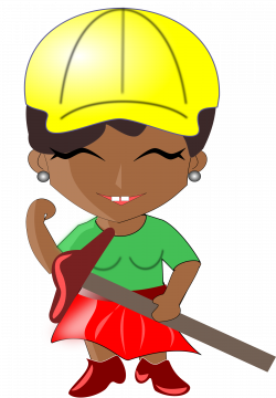 Clipart - African Lady Architect