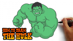 How to Draw The Hulk- Simple Step by Step Video Lesson - YouTube