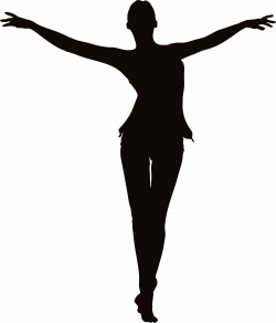 Clipart - Woman With Outstretched Arms Silhouette