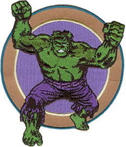 Amazon.com: Marvel Comics Retro Incredible Hulk Arms Patch P-3353 ...