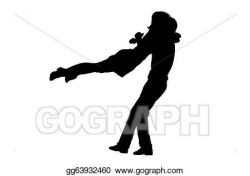 Clipart - Silhouette of a couple jumping into the arms of each other ...