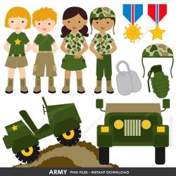 Army Clipart, Military vector graphics, Patriot Digital Clip ...